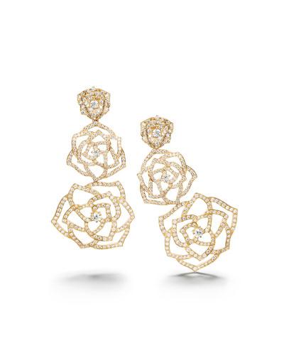 Rose 18k Rose Gold Brilliant-Cut Diamond Drop Earrings
