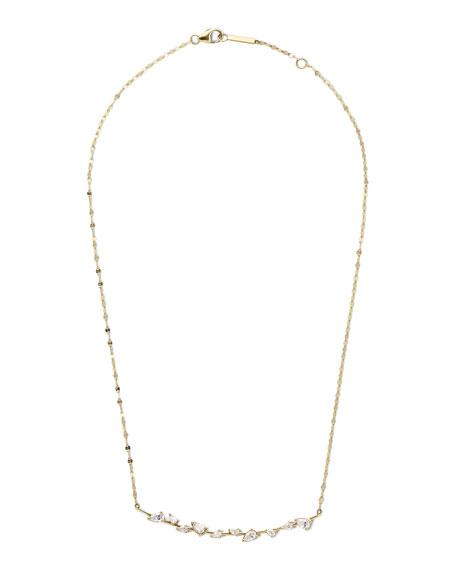 LANA 14k Gold & Diamond Pear Wire Pendant Necklace