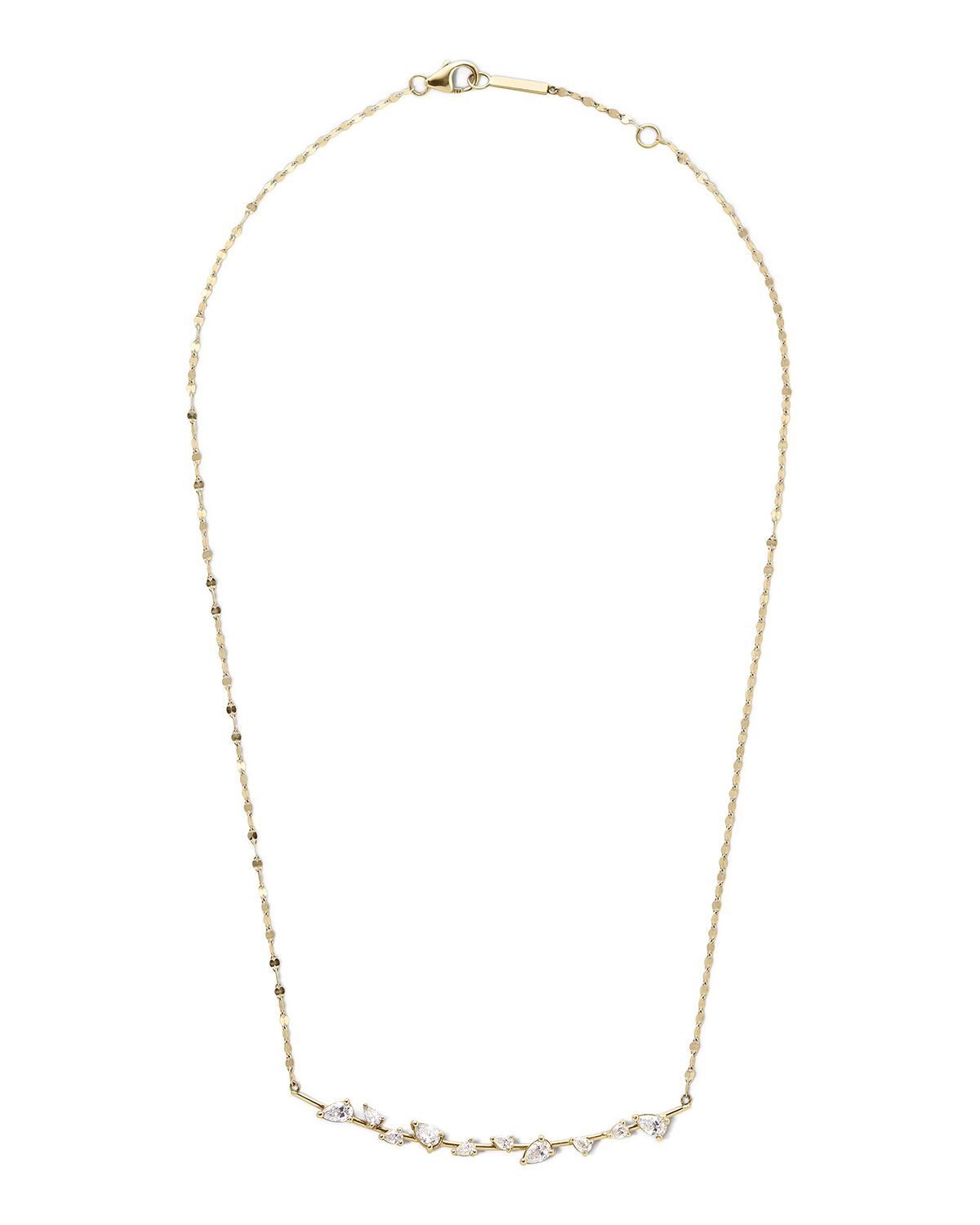 Lana 14k Gold & Diamond Pear Wire Pendant Necklace
