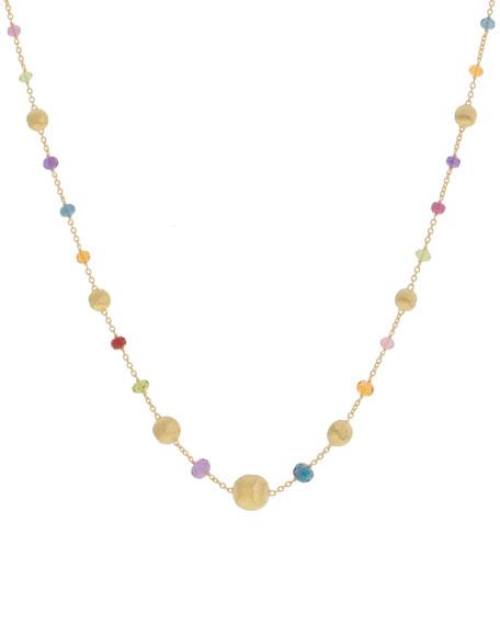 Marco Bicego Africa 18k Mixed Gemstone Short Necklace