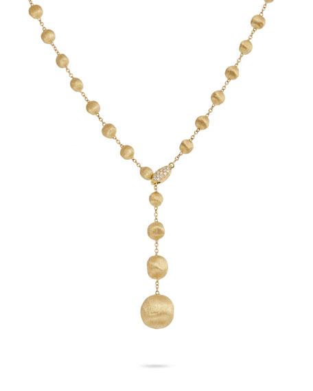 Marco Bicego Africa 18k Diamond Lariat Necklace