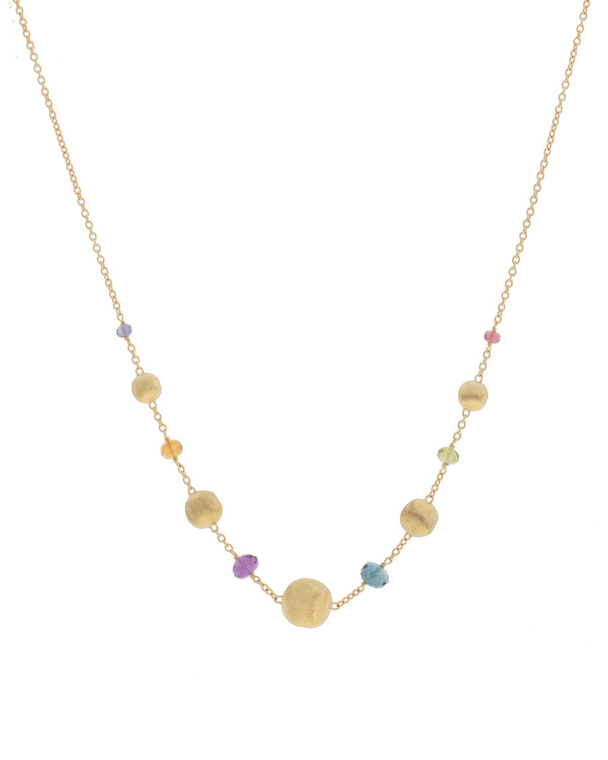 Marco Bicego Africa 18k Mixed Gemstone Half Necklace