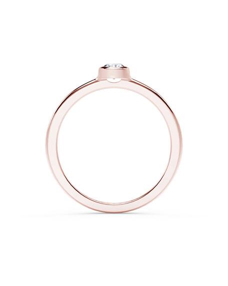 Forevermark 18k Rose Gold Diamond Bezel Solitaire Ring, Size 6.75