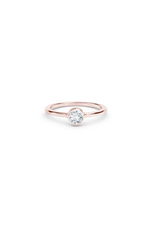 Forevermark 18k Rose Gold Diamond Bezel Solitaire Ring, Size 6.75