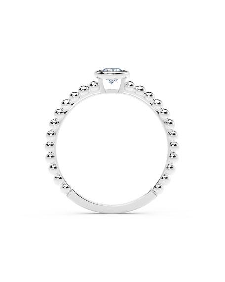 Forevermark 18k White Gold Diamond Halfway Beaded Ring, Size 6.5