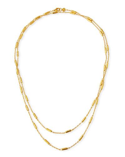 Vertigo Long Gold All-Around Necklace