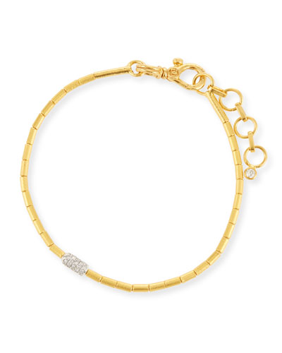 Vertigo Single-Strand Gold Pave Diamond Bracelet