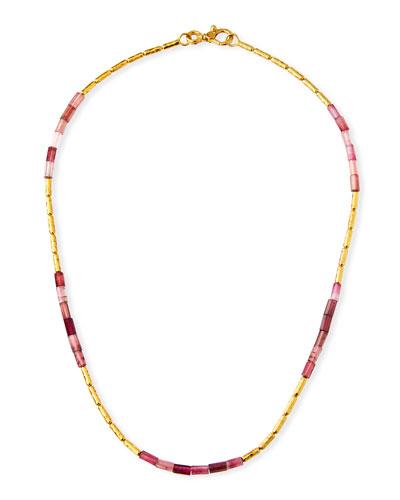 Vertigo Hue Pink Tourmaline Necklace