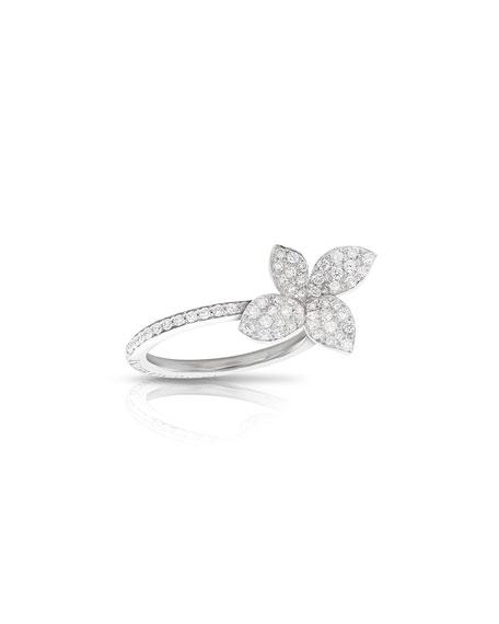 Pasquale Bruni Petit Giardini 18k White Gold Diamond Ring, Size 6