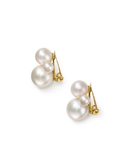 Ippolita Nova 18k Gold Pearl Clip-On Earrings