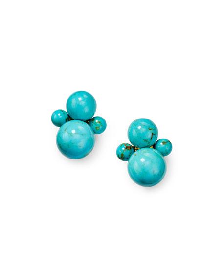 Ippolita Nova 18k Gold Turquoise Clip-On Earrings
