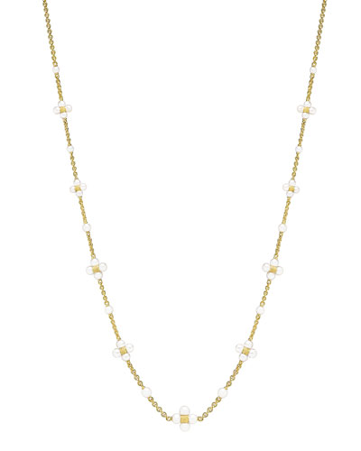 18k Gold Pearl Sequence Necklace