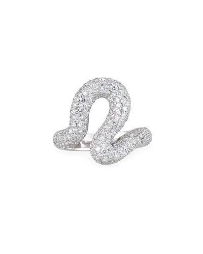 Brushstroke 18k White Gold Diamond Ring
