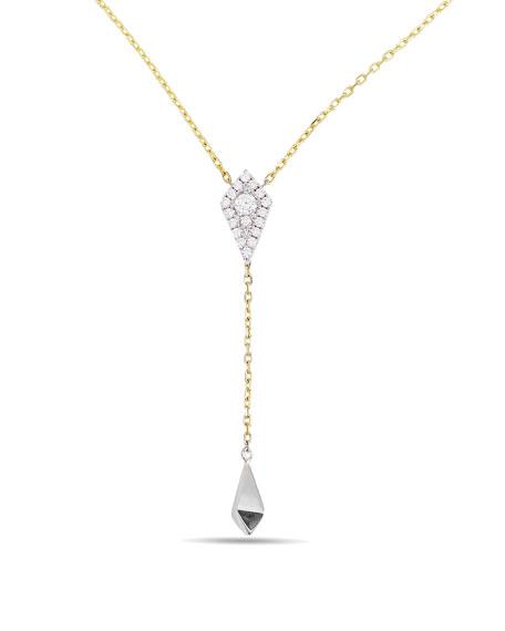 Frederic Sage 18k Gold Firenze Diamond Kite Lariat Necklace