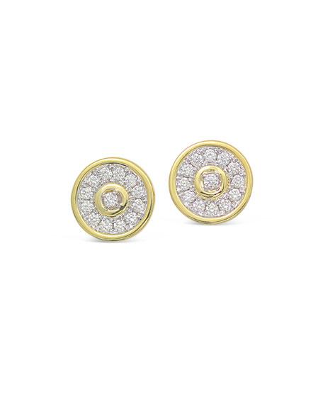 Frederic Sage 18k Gold Firenze Spinning Diamond Disc Earrings