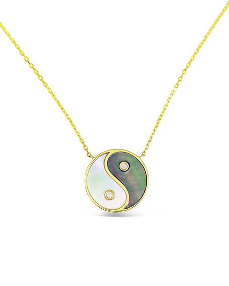 Frederic Sage 18k Gold & Mother-of-Pearl Yin Yang Pendant Necklace