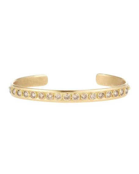 Armenta Sueno 18k Gold & Diamond Granulated Bangle
