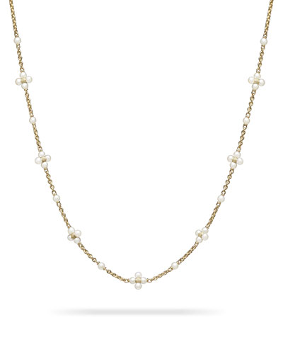 Pearl Sequence Necklace in 18k Gold