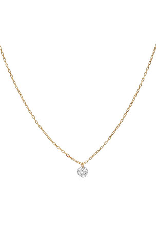 Nicha Jewelry 18k Floating Diamond Pendant Necklace
