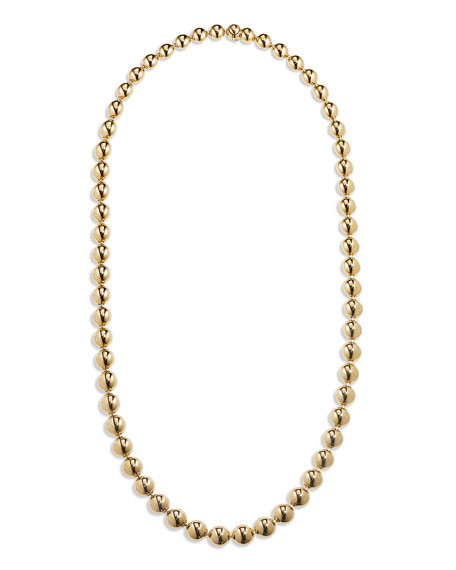 "CADAR 18k Gold Bead Necklace, 22""L"