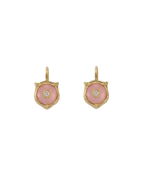 Gucci 18k Gold Le Marche des Merveilles Opal Feline Earrings