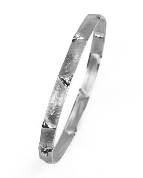 Image 1 of 1: Dune 18k White Gold & Diamond Bangle