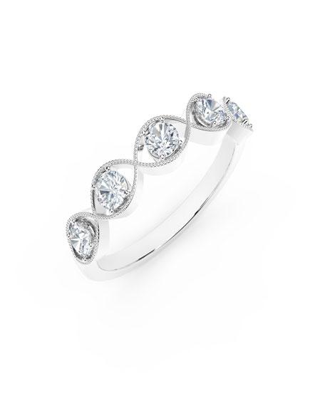 Forevermark Tribute 18k White Gold Braided 5-Diamond Ring