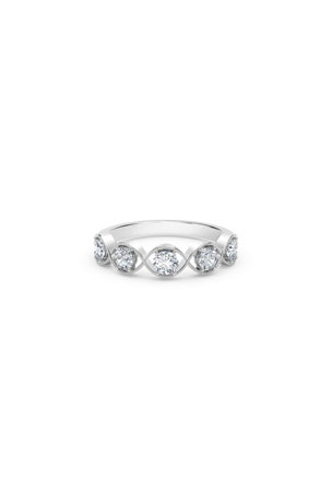 Forevermark Tribute 18k White Gold Braided 5-Diamond Ring
