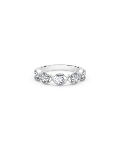 Tribute 18k White Gold Braided 5-Diamond Ring
