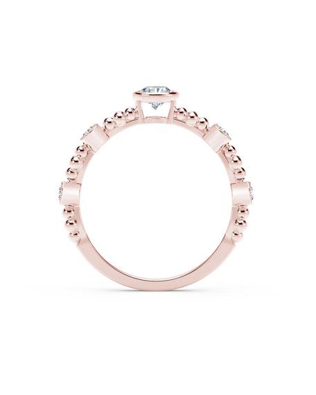 Forevermark Tribute 18k Rose Gold Diamond Stack Ring, Size 6.5