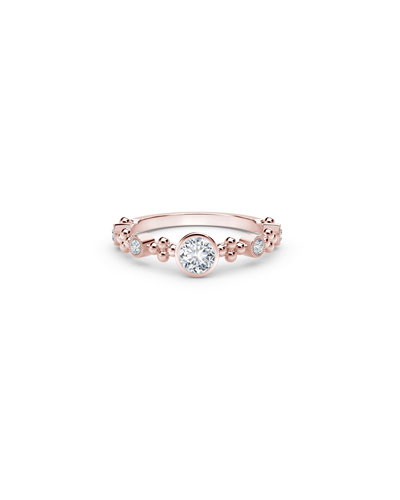 Tribute 18k Rose Gold Diamond Stack Ring  Size 6.5