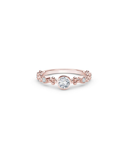 Forevermark Tribute 18k Rose Gold Diamond Stack Ring, Size 6.5