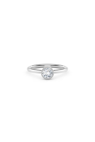 Forevermark 18K White Gold Beaded Diamond Ring, Size 7
