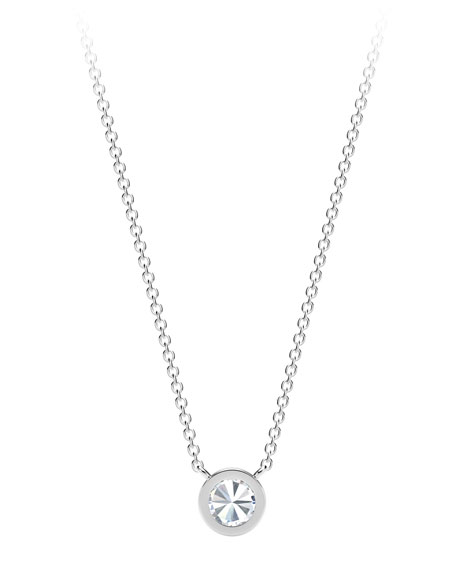 Forevermark 18K White Gold Beaded Diamond Pendant Necklace