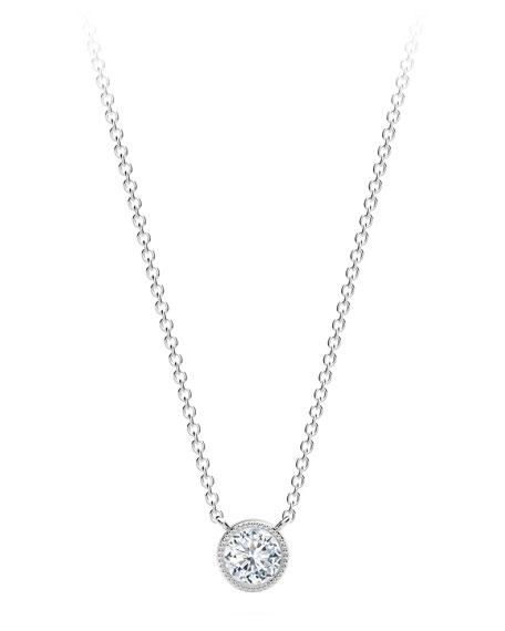 Forevermark 18K White Gold Beaded Diamond Pendant Necklace