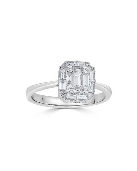 ZYDO 18k Mosaic Diamond Octagon Ring, Size 7