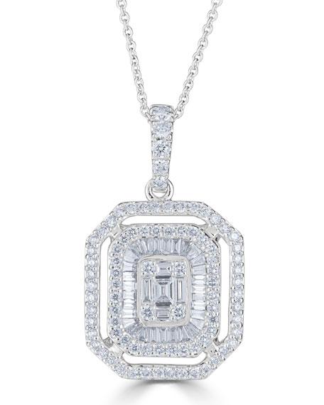 Zydo 18K MOSAIC DIAMOND PENDANT NECKLACE, 1.06TCW
