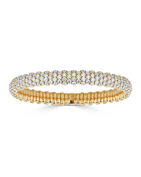 ZYDO Stretch 18k Gold & Diamond Bracelet, 10.45tcw