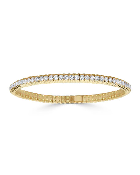 ZYDO Diamond Stretch Bracelet in 18k Gold, 3.77tcw
