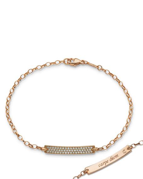 Monica Rich Kosann Petite Poesy Diamond ID Bracelet