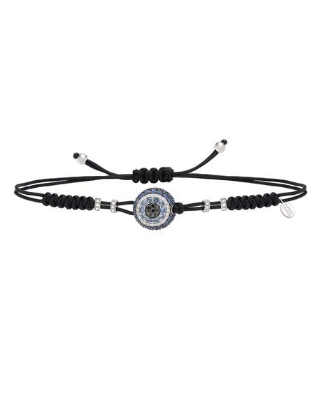 Pippo Perez Pull-Cord Bracelet with Sapphire & Diamond Fatima Eye Station
