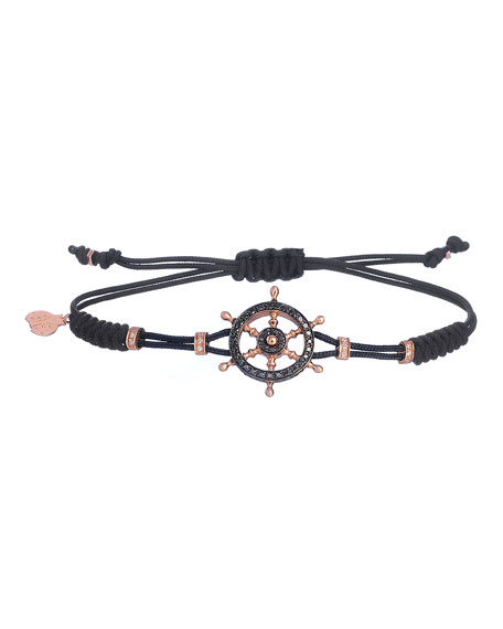 Pippo Perez 18k Pink Gold Diamond Helmsman Pull-Cord Bracelet