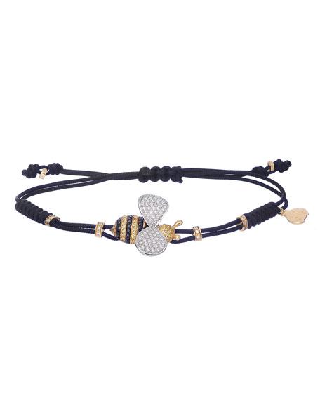 Pippo Perez 18k Gold Bee Diamond & Sapphire Bracelet