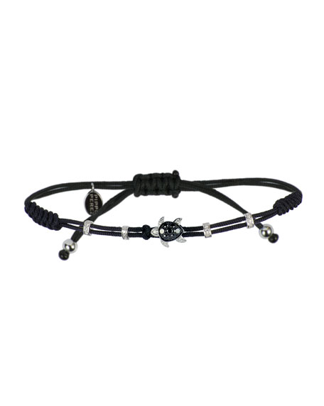 Pippo Perez 18k Black & White Diamond Turtle Bracelet