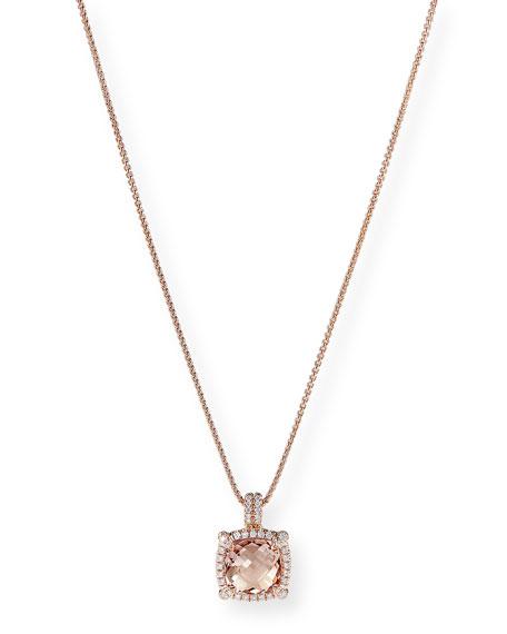 David Yurman Chatelaine 18k Rose Gold Morganite Necklace