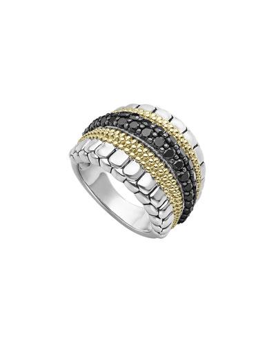 Diamond Lux Ring w/ 18k Gold, Size 7