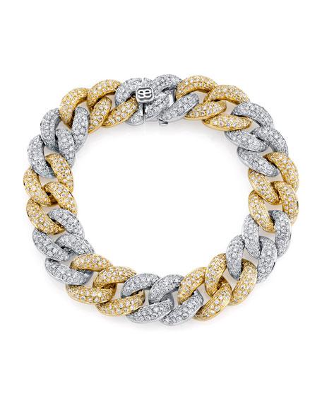 Sydney Evan 2-Tone 14k Gold Diamond Link Bracelet