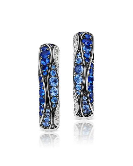 Maria Canale 18k White Gold Sapphire & Diamond Earrings