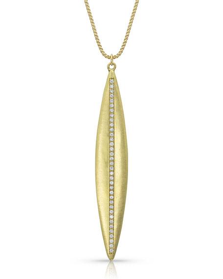 Dominique Cohen Navette Diamond Pendant Necklace in 18K Yellow Gold