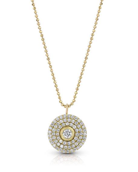 Dominique Cohen 18k Gold Mosaic Diamond Pendant Necklace (Medium)